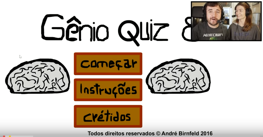 Coisa de Nerd jogando Gênio Quiz 8