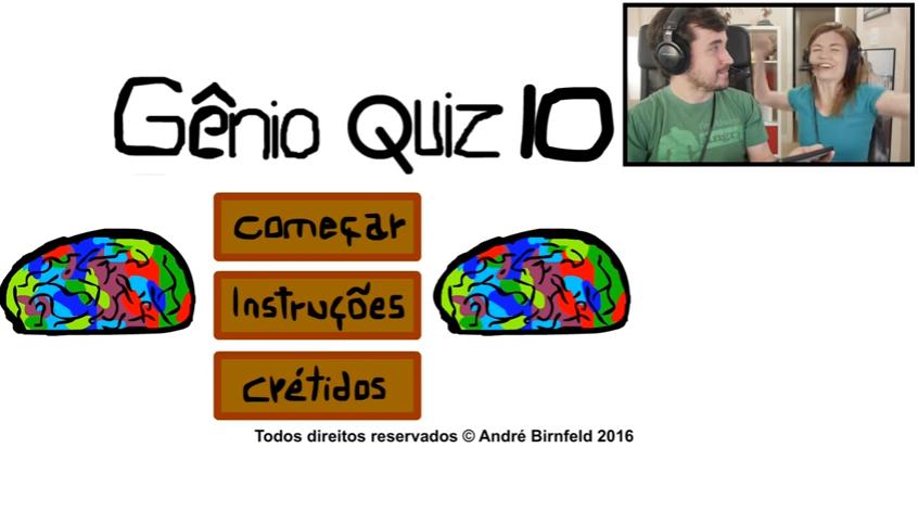 Coisa de Nerd jogando o Gênio Quiz 10