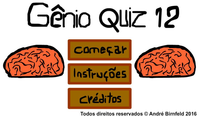 Gênio Quiz 12 grátis
