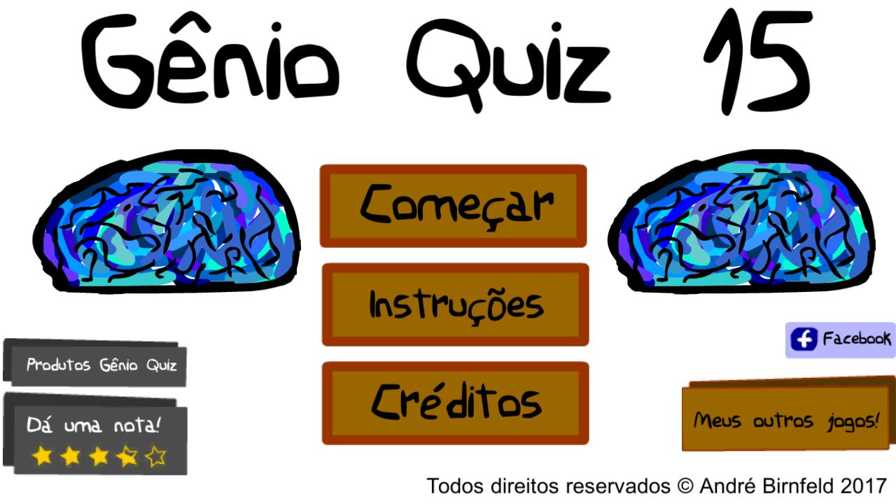 Gênio Quiz 15 grátis