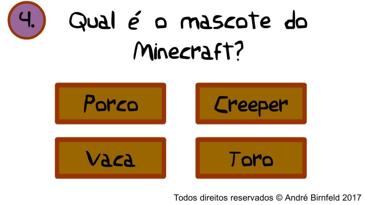 Gênio Quiz Minecraft questão 4