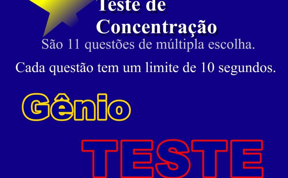 Teste de Concentração