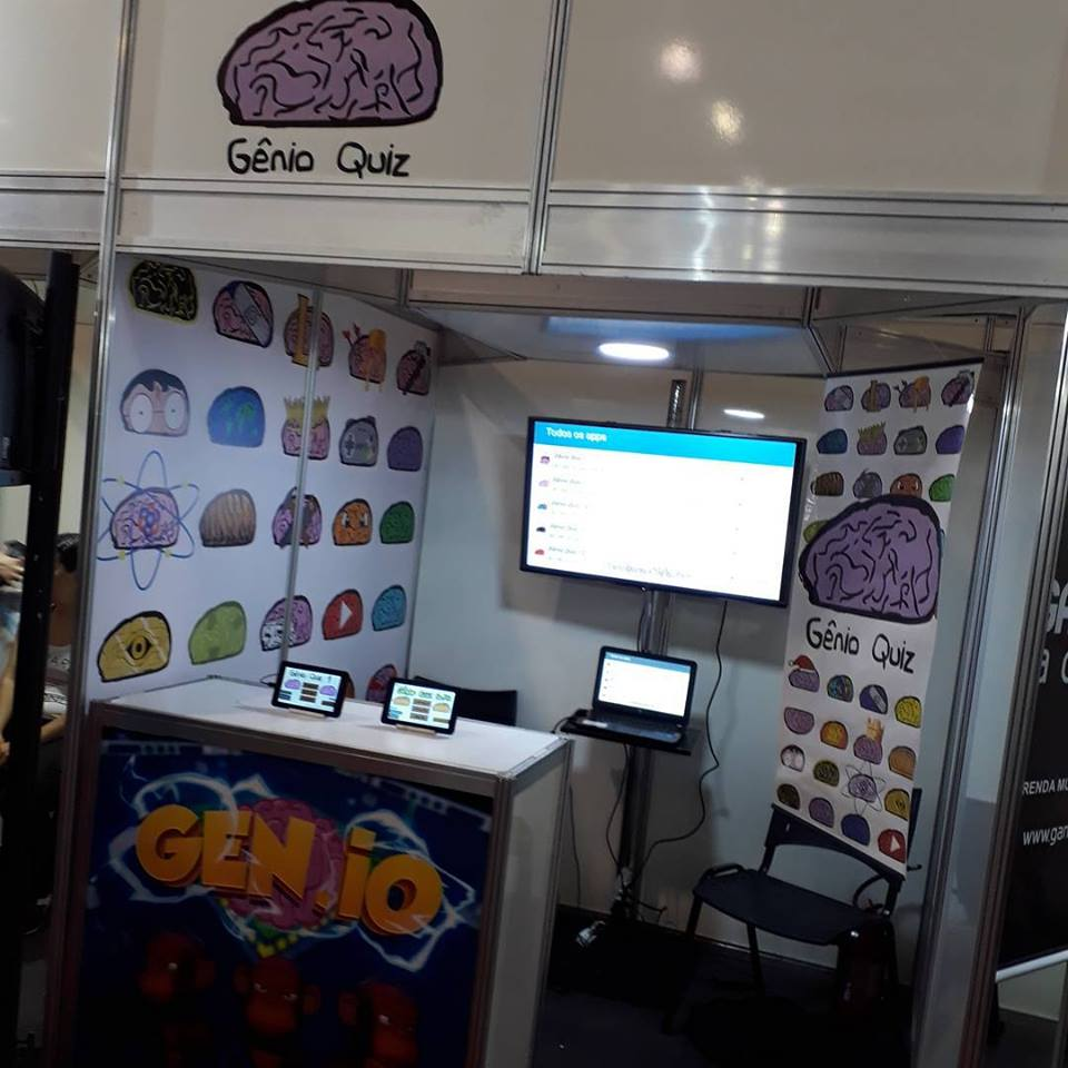 Stand do Gênio Quiz na Brasil Game Show