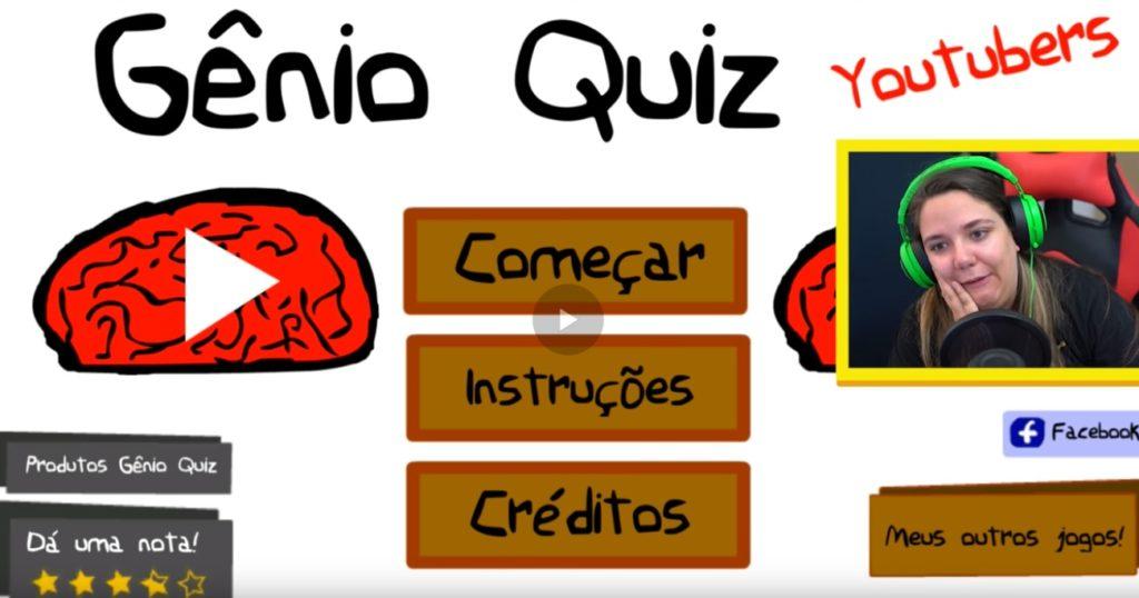 Gênio Quiz Youtubers 2 um jogo grátis