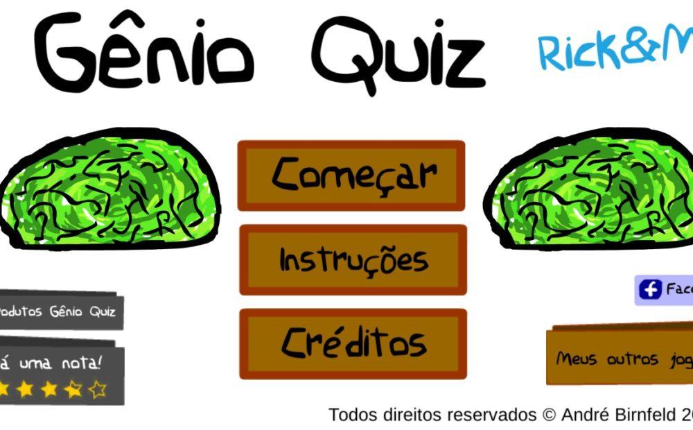 Gênio Quiz Rick and Morty jogue grátis