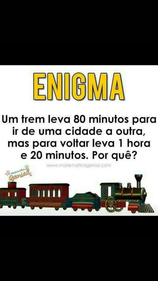 O Enigma do Trem é um teste de matemática grátis