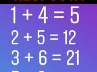 Resposta para o desafio 1+4=5 um teste de matemática