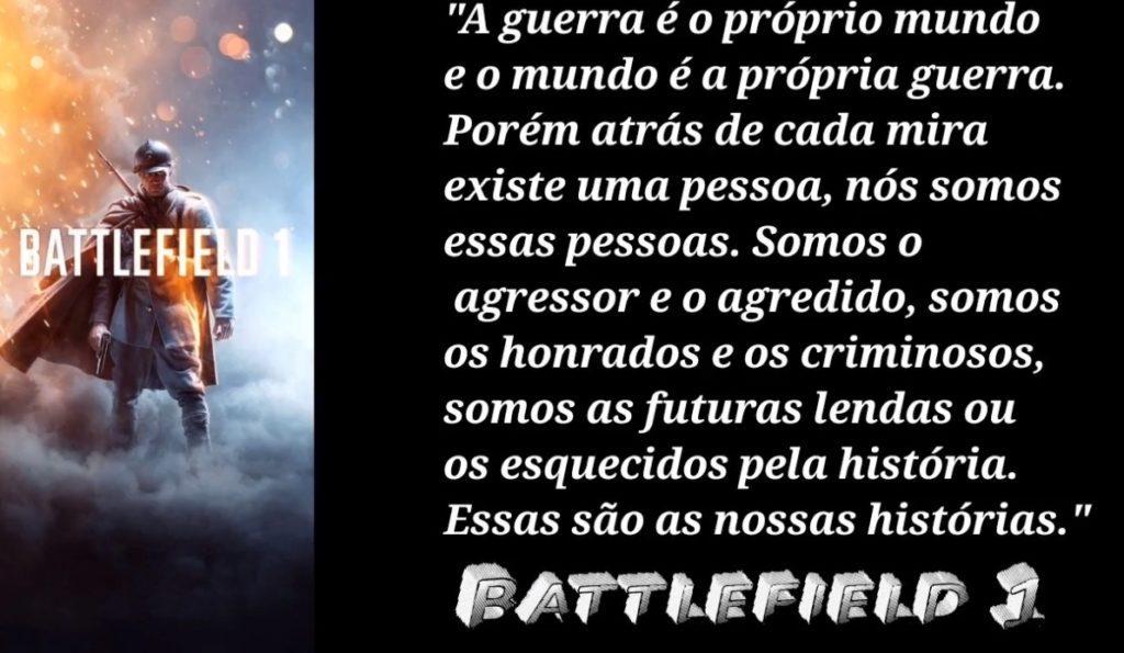 Battlefield 1 frases de jogos