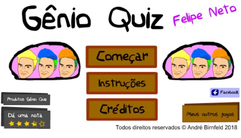 Gênio Quiz Felipe Neto capa
