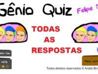 Respostas do Gênio Quiz Felipe Neto