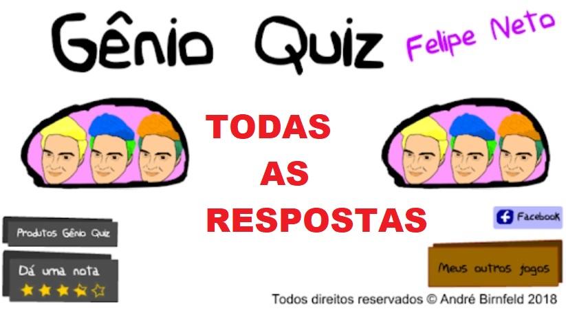 Respostas do Gênio Quiz Felipe Neto