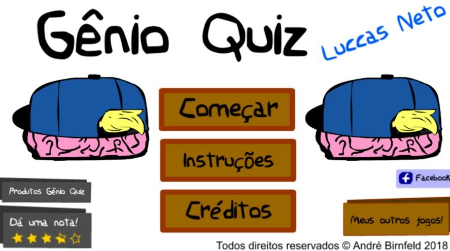 Gênio Quiz Luccas Neto capa