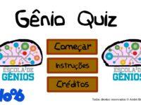 Escola de Gênios no Gênio Quiz