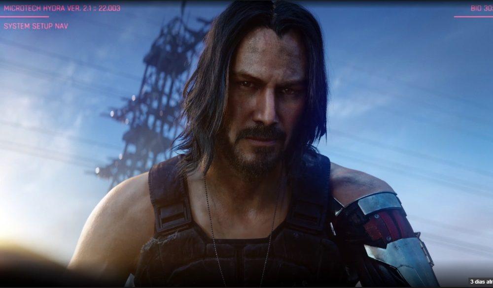 Keanu Reeves E32019 jogo Cyberpunk 2077